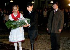 Gyertyagyújtás az aradi vértanúk emlékére Dunaszerdahelyen